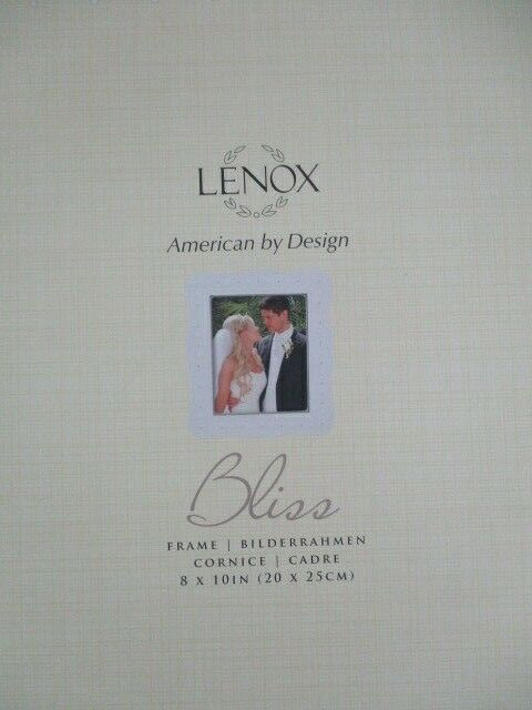 Lenox Bliss Wedding Frame 8x10 New In Box