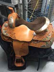 Western STERLING SILVER  show saddle