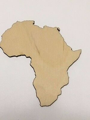 Africa Unfinished Wood Cutout, Laser cut wood, Crafting Supplies, Continent - Unfinished Wood Craft Supplies