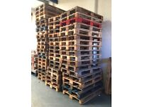 Used wooden euro pallets