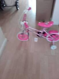 Pink sparkle bike