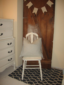 antique painted wooden chair