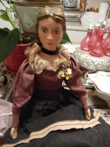 Lovely Large Vintage Composite Head Doll