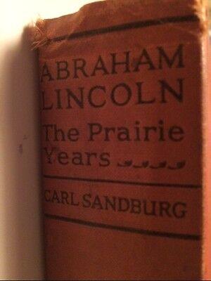 Abraham Lincoln The Prairie Years Carl Sandburg 1926 Blue Ribbon Books Hardcover
