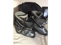 Ski Boots size 6 with bag