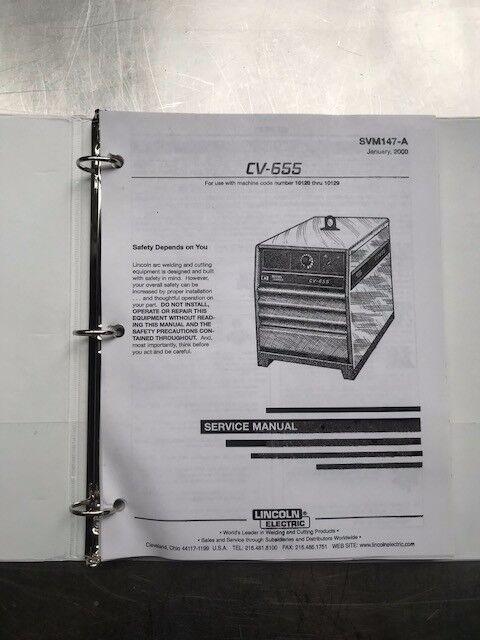 Lincoln Electric CV 655 Service Manual SVM147A