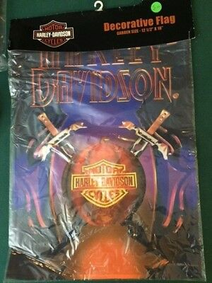 Decorative flag Harley Davidson 12-1/2 x 17-1/2