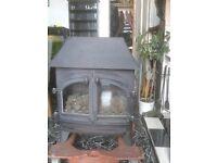 Gas stove burner coal effect .. large 2 door burner