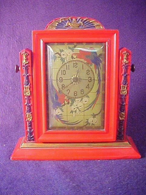 Vintage Art Deco Period Parrot Wind Up Table Clock