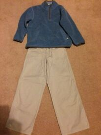Boys Boden fleece and chinos, aged 8 years