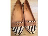 Zebra print leather shoes