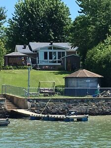 House to sell  Waterfront Sail on Richelieu
