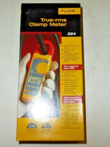 NEW Retail Fluke True RMS Clamp Meter Model 324 4152637 Electric  FLUKE-324 case