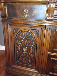 Antique solid wood buffet in great condition.