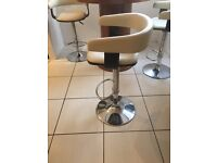 3 x faux leather bar stools