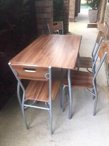 Dining suite table and 4 chairs, compact, good condition Gawler South Gawler Area Preview