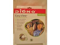BACK SEAT SILVER MIRROR, EASY VIEW BY DIONO. SEE YOUR BABY CLEARLY IN THE BACK. USED - CHEAP