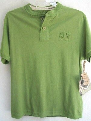 Ditch Plains  Cotton  Natural Green   Polo   Shirt   New   Sz Medium