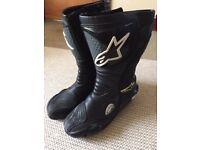Alphine men's motorbike boots