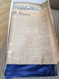 Original 1920 London Times and Scotsman Newspapers