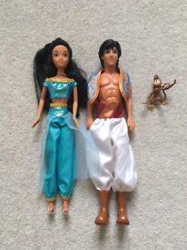 Disney Aladdin, Jasmine and Abu Dolls