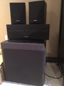 Kenwood sub-woofer, centre and surround speakers