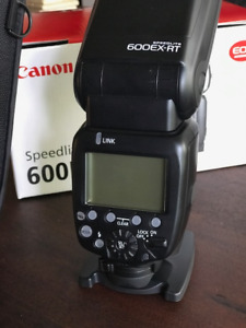 Flash speedlite Canon 600EX-RT - presque neuf