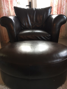 Brown Leather Natuzzi Chair