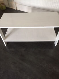 small white coffee table free on collection