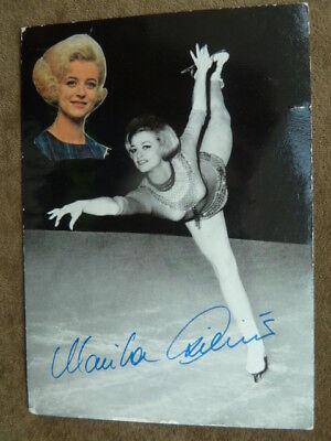 -ah- Marika Kilius, 60ger Jahre Eiskunstkauf AK (Unterschrift gedruckt) I