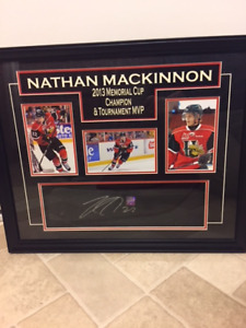 NATHAN MACKINNON 2013 MEMORIAL CUP CHAMPION/TOURNAMENT MVP ITEM