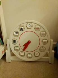 Children's wooden clock
