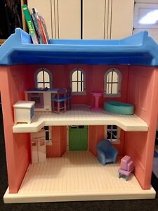 """Vintage Little Tikes """"My Size"""" Doll House with Furniture"""
