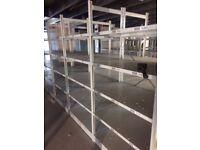joblot 10 bays link 2.5m high industrial shelving (pallet racking, storage )