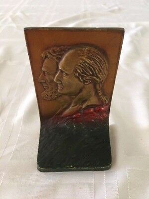 Vintage K&O Brass Washington & Lincoln Replacement Bookend - Single Bookend