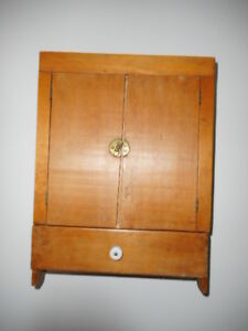 small pine wall cabinet