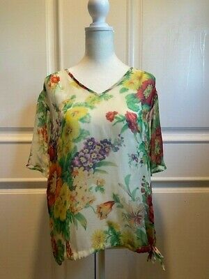 Rare Vintage Dries Van Noten Silk Floral Blouse - Size 42