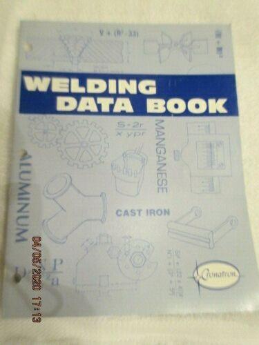 Vintage 1994 Welding Data Book Cronatron Supplies Brazing Soldering Arc Mig Tig