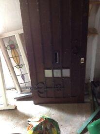1920s dark wood front door