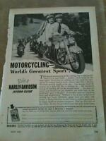 Original Popular Mechanics Vintage Harley Davidson Ads
