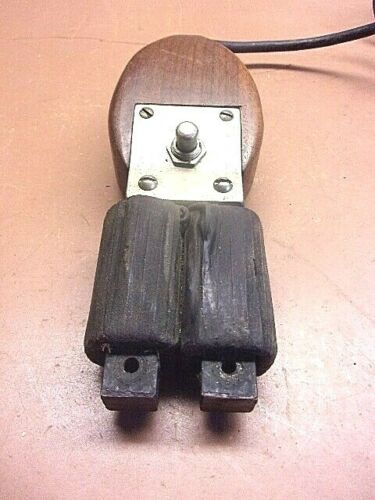 """Vintage ELECTROMAGNET Wooden Hand-Held Unique 8"""" x 2 1/2""""  Untested Cool Piece!"""