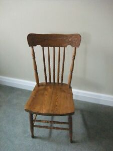 Antique Press Back Chair = $50.00