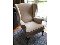 Excellent condition High Wing Back Queen Anne style Lounge Chair