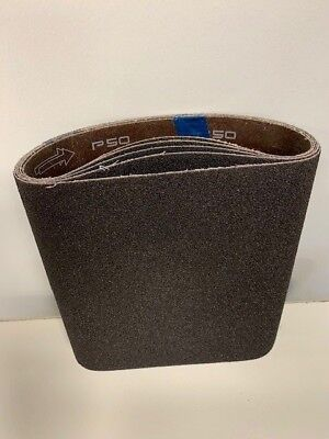 Premium Clarke - American Sanders Ez8 Cloth 8x19 Sanding Belts 50 Grit - 10 Pack