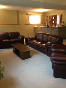 Couch, love seat and chair