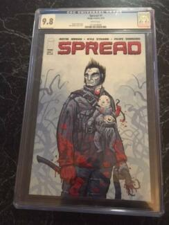 Spread #1 CGC 9.8 comic. Case in great condition