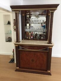 Italian bar in High gloss Mahogany excellent condition