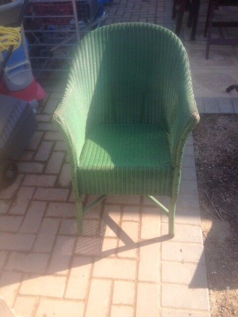 Retro green wicker chair