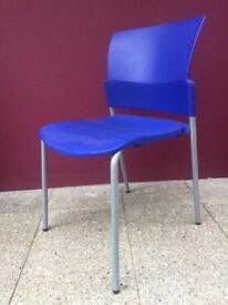 Modern blue stacking chair