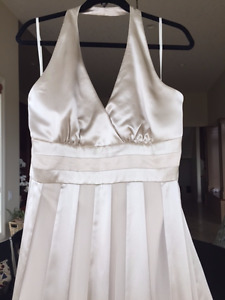 Brand New long champagne colored gown
